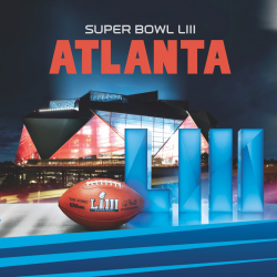 Super Bowl LIII Napkin printed by Creative Converting