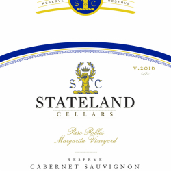 Stateland Cellars Reserve Cabernet Sauvignon Label printed by Labeltronix