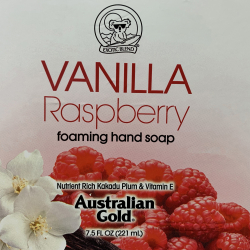 Vanilla Raspberry Label printed by McDowell Label